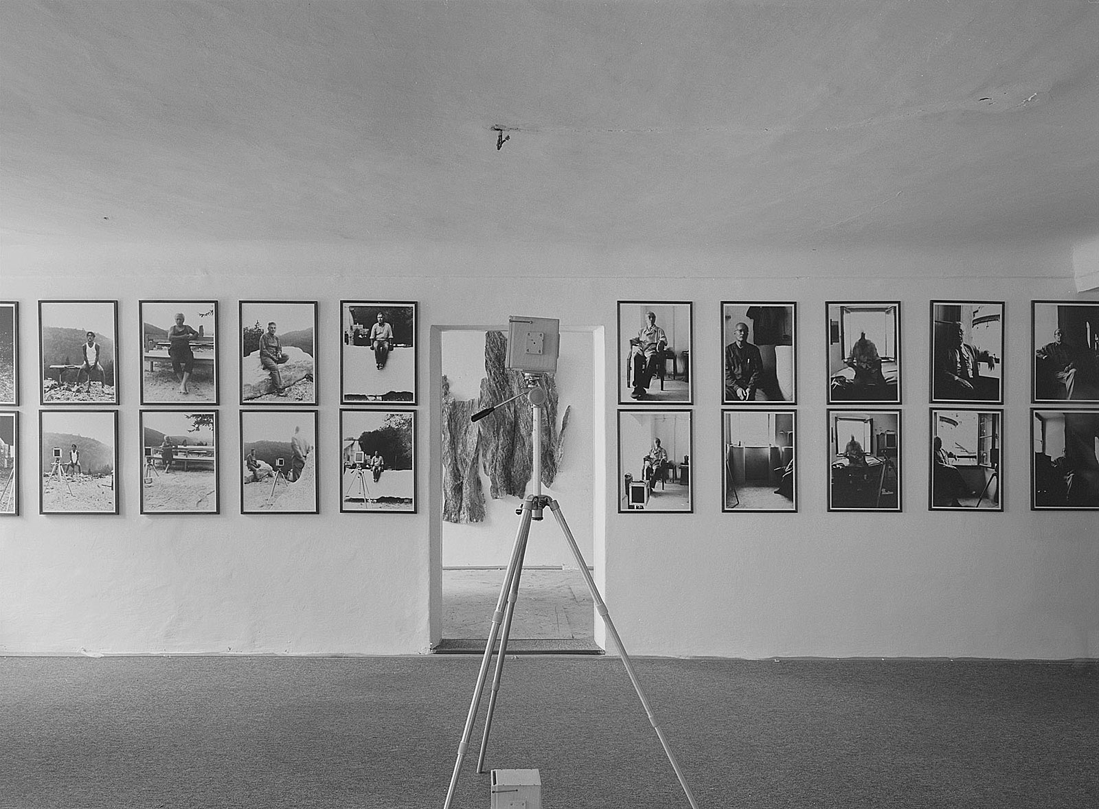"""Lochkamera-Portraits"", Hubert Maier & Michael Wesely Firmian-Salm-Haus, Salzburg"