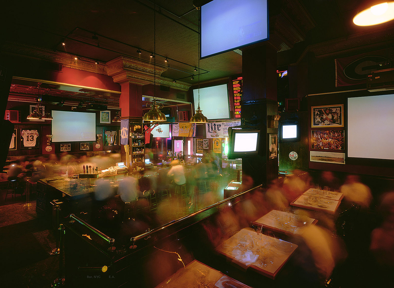 NBA finals, The Sporting Bar, New York (20.10 - 22.16 Uhr, 14.6.1998)