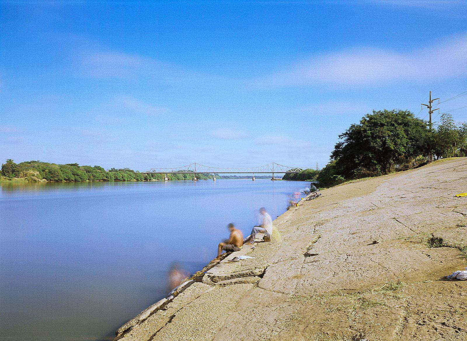 Rio Parnaíba e Ponte Metálica, Teresina (7.11 - 7.21 Uhr, 15.8.2003)