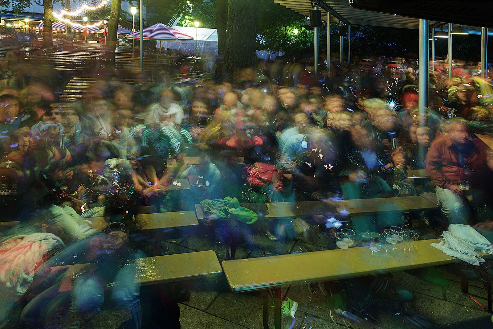 Deutschland - Algerien 2:1, Prater Garten (22.00 - 00.30 Uhr, 30.6.2014)